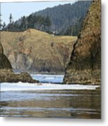 Ecola From Chapman Pt. Metal Print by Steven A Bash