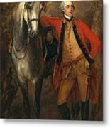 Edward Viscout Ligonier Metal Print by Thomas Gainsborough
