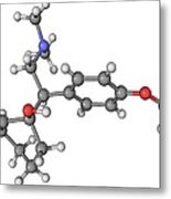Effexor Antidepressant Drug Molecule Metal Print by Laguna Design