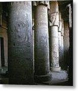Egypt: Temple Of Hathor Metal Print by Granger