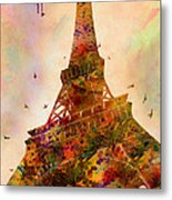 Eiffel Tower  Metal Print by Mark Ashkenazi