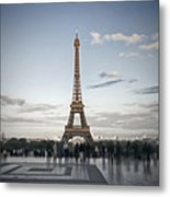 Eiffel Tower Paris Metal Print by Melanie Viola
