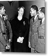Eleanor Roosevelt Greets African Metal Print by Everett
