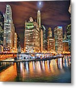Electric City Metal Print by Joel Olives