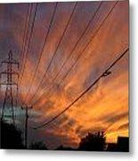 Electric Sunset Metal Print by Nina Fosdick