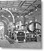 Electric Tramway Generator, 19th Century Metal Print by
