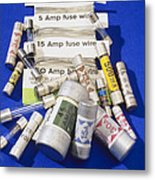 Electrical Fuses Metal Print by Andrew Lambert Photography
