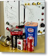 Electrical Power Sources Metal Print by Andrew Lambert Photography