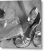 Elegant Night Out In Black And White Metal Print by Mark J Seefeldt