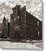 Elkhorn Ghost Town Public Halls 3 - Montana Metal Print by Daniel Hagerman