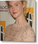Elle Fanning At Arrivals For 15th Metal Print by Everett