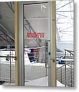 Emergency Exit At An Airport Metal Print by Jaak Nilson
