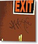 Emergency Exit Metal Print by Joe Jake Pratt