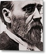 Emile Zola 1840-1902, French Novelist Metal Print by Everett