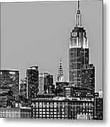Empire State Bw Metal Print by Susan Candelario