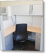 Empty Office Cubicle Metal Print by Jetta Productions, Inc