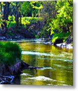 Enchanted River Metal Print by Rebecca Frank