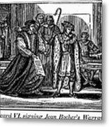 England: Martyr, 1550 Metal Print by Granger