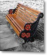 English Bench Metal Print by Roberto Alamino