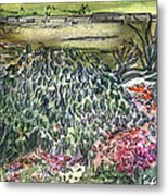 English Garden Metal Print by Mindy Newman