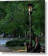 Enjoying The Moment In Central Park Metal Print by Lee Dos Santos