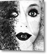 Erased Metal Print by Jenn Bodro