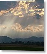 Evening Storm Clouds Metal Print by Renee Skiba
