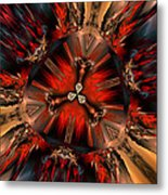 Excitement In Red Metal Print by Claude McCoy