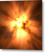 Explosion Metal Print by David Mack