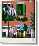 Facades Of Burano. Venice Metal Print by Bernard Jaubert