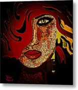 Face 10 Metal Print by Natalie Holland
