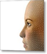 Facemapping, Artwork Metal Print by Claus Lunau