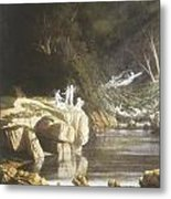Fairies By A Rocky Stream Metal Print by Francis Danby