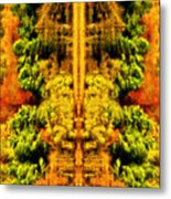 Fall Abstract Metal Print by Meirion Matthias