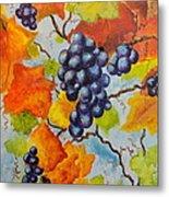 Fall Grapes Metal Print by Carole Powell