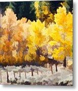 Fall In The Sierra Metal Print by Carol Leigh