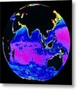 False Colour Image Of The Indian Ocean Metal Print by Dr Gene Feldman, Nasa Gsfc