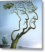 Family Tree, Conceptual Artwork Metal Print by Smetek