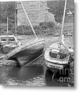 Family Wharf At Kittery Point In Maine 1900 Metal Print by Padre Art