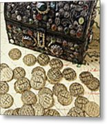 Fancy Treasure Chest  Metal Print by Garry Gay