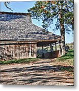 Farm Scene At Booker T. Washington National Monument Park Metal Print by James Woody