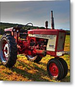 Farmall Tractor In The Sunlight Metal Print by Andrew Pacheco