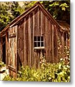 Farming Shed Metal Print by Lourry Legarde