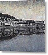 Farsund Waterfront Metal Print by Janet King