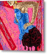 Fashion Abstraction De Angela Balderston Metal Print by Kenal Louis