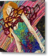 Fashion Abstraction De Dan Richters Metal Print by Kenal Louis