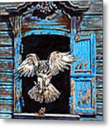 Fast Food Window Metal Print by John Lautermilch