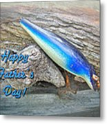 Fathers Day Greeting Card - Vintage Floyd Roman Nike Fishing Lure Metal Print by Mother Nature
