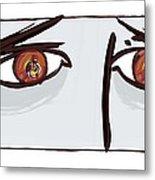 Fearful Eyes, Artwork Metal Print by Paul Brown
