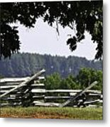 Fence At Appomattox Metal Print by Teresa Mucha